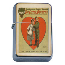 Silver Flip Top Oil Lighter Vintage Poster D 132 Music Comedy The Little... - $12.82