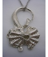 HOODED LIZARD PENDANT WITH A CHAIN IN STERLING SILVER - $28.01