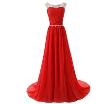 Lemai Sheer Crystals Criss Cross Long Beaded Corset A Line Prom Evening Dress... - $119.99