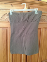 strapless stretch brown top by bp size large - $24.99