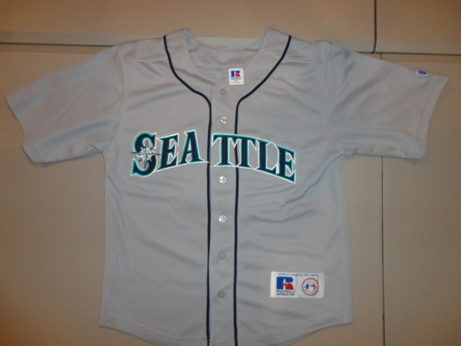 12c6e6f39 SEWN Vintage Russell Athletic MLB Seattle and 50 similar items. S l1600