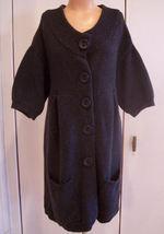 VINCE Dark Gray Long Cardigan Sweater Coat Wool Blend Sz Med EUC - $64.75