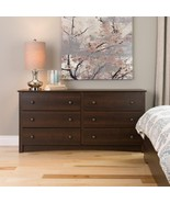 Fremont 6 Drawer Dresser Espresso Bedroom Furni... - $204.00