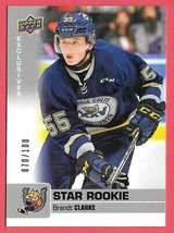 2019-20 Brandt Clarke Upper Deck CHL Exclusives Rookie 070/100 - Barrie Colts - $18.99