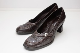 Franco Sarto 6.5 Brown Alligator Embossed Pumps - $24.00