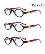 3 PACK Vintage Retro Small Round Oval Reading Glasses 1.0 1.5 2.0 2.5 3.0 3.5 - $12.99