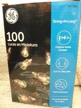 GE String-A-Long 100 Clear Mini Lights Party Christmas Wedding Lights, 2... - $6.99