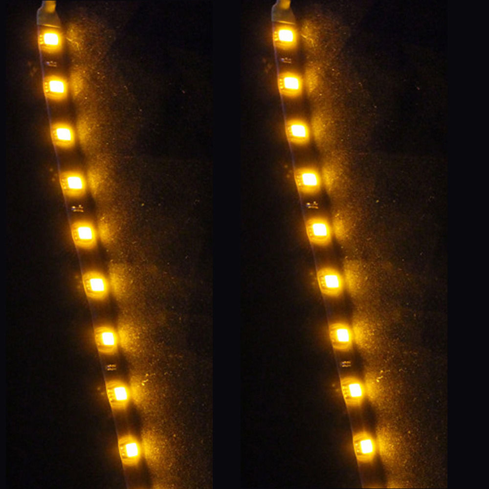 S l1600. S l1600. Previous. 2 X 15 LED 30cm Car Auto Motor Flexible Waterproof Strip Light Yellow 12V Sales