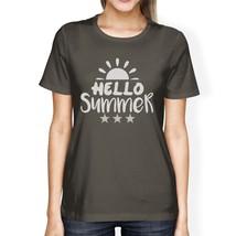 Hello Summer Sun Womens Dark Grey Shirt - $14.99+