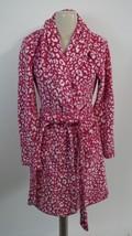 MAKE + MODEL 'Soft As Snow' Plush Robe NO260425MI sz S pink magenta leop... - ₨1,603.94 INR