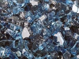 """10 Lbs of 1/4"""" Kenai Blue Reflective Blended Fireglass for Fire Pits Fir... - $38.61"""