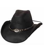 Bullhide Get On Leather Cowboy Cowgirl Hat Vent... - $79.00