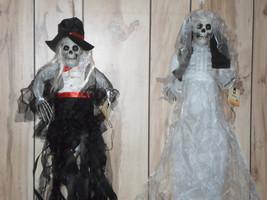 Halloween Lighted Bride & Groom Hanging Grim Reaper Pair - €35,33 EUR