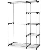 Closet Organizer Storage Rack Portable Clothes Hanger Home Garment Shelf... - $52.98