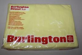 "1976 Vintage Burlington House Full Flat Sheet Yellow No-Iron Percale 54""... - $19.80"