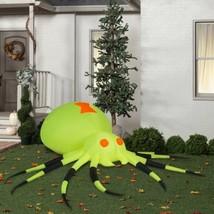 Halloween Gemmy 11.5 ft wide Giant Neon Green Spider Airblown Inflatable - $99.95