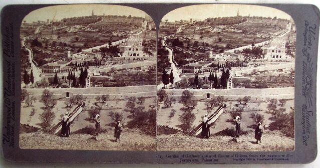 4 Stereo Views Jerusaleum Palestein Area 1900s