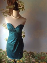 Charlotte Russe Women's Teal Green Strapless Sweetheart Dress SZ M New - $24.74