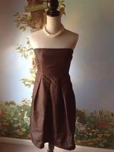 J. Crew Women's Brown Strapless 100% Silk Dress SZ 8 - $29.69
