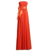 Lemai Strapless Chiffon A Line Long Removable Sash Simple Prom Bridesmaid Dre... - $69.99