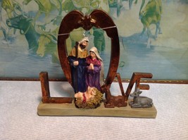 Deer and Baby Love Resin Nativity Scene Home Decor Figurine