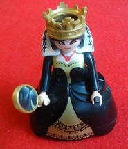 Playmobil Figure Evil Queen 4591 Black & Gold Hoop Skirt Mirror - $14.99