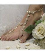 Barefoot Sandals, Parisian, SILVER,  foot jewelry, rhinestones,wedding, ... - $29.99