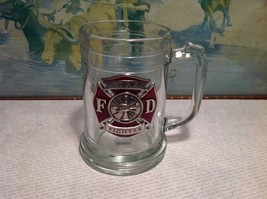 NIB Heritage Pewter Fire Fighter Glass Mug