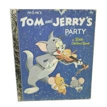 Vintage MGM'S Tom Und JERRY'S Party Little Golden Buch KINDER Bilderbuch - £10.15 GBP