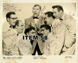 BILL HALEY AND HIS COMETS PHOTO MULTI SIGNED BY... - $20.79