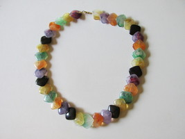 "Retro / Vintage Avon ""Polished Spectrum"" Colorful Necklace - 1986 - $9.99"