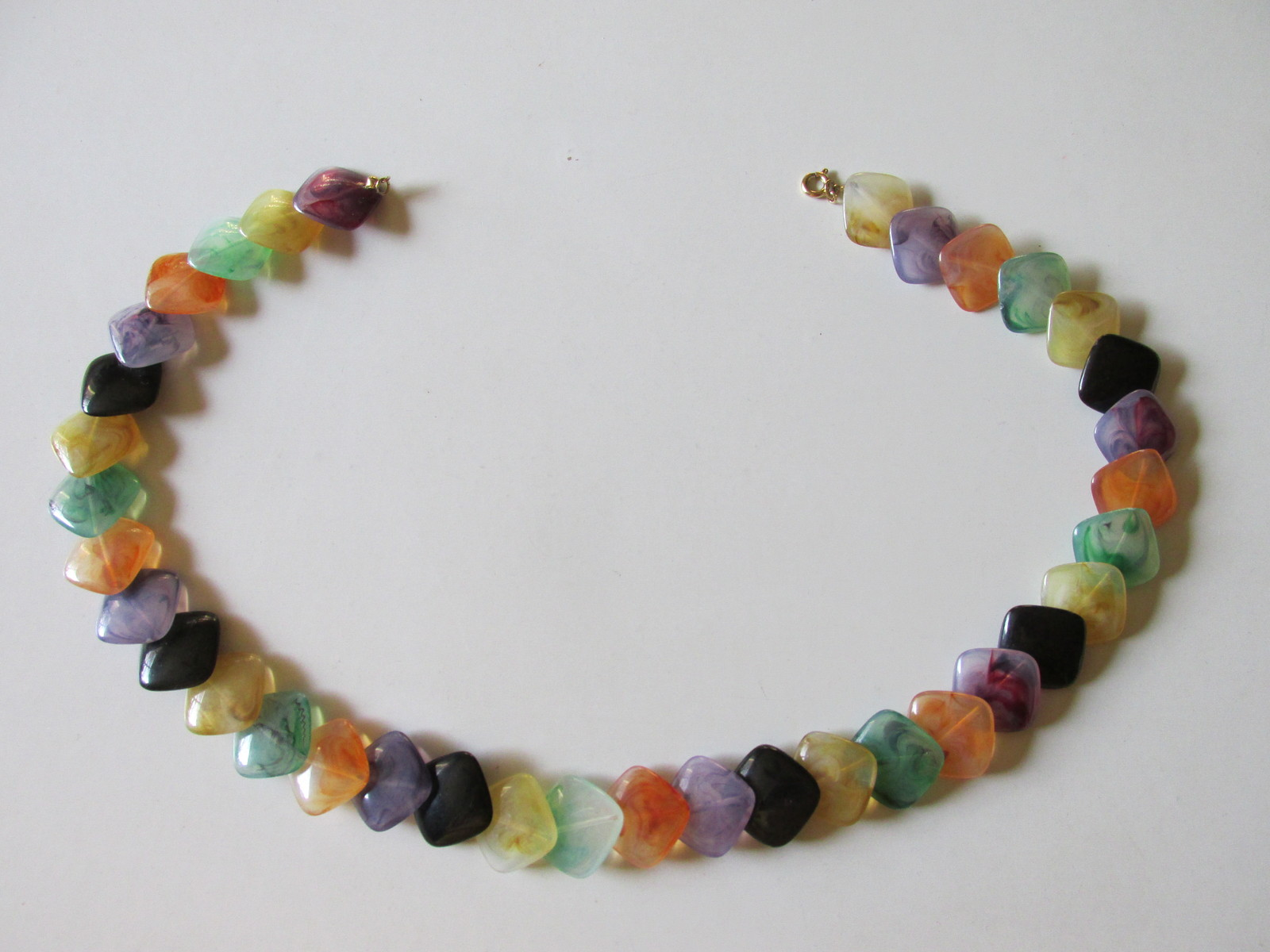 "Retro / Vintage Avon ""Polished Spectrum"" Colorful Necklace - 1986"