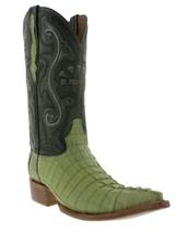 Mens Genuine Green Alligator Crocodile Leather Western Cowboy Boots 3x Toe - £175.03 GBP