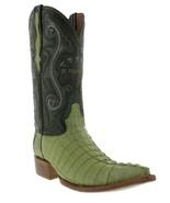 Mens Genuine Green Alligator Crocodile Leather Western Cowboy Boots 3x Toe - £172.85 GBP