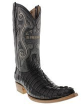Mens Genuine Black Alligator Crocodile Leather Western Cowboy Boots 3x Toe - €192,53 EUR