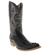 Mens Genuine Black Alligator Crocodile Leather Western Cowboy Boots 3x Toe - $300.55 CAD