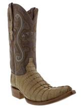 Mens Genuine Sand Alligator Crocodile Leather Western Cowboy Boots 3x Toe - £175.03 GBP