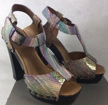 Ugg Collection Fiorella Disco Women's Leather Strappy Heels Platform Sandals - $69.99