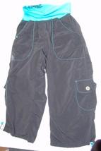 Zumba Fitness Capri Pants M Exercise Athletic Black Womens Cropped - $21.98