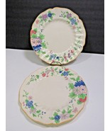 "Set of 2 Royal Doulton DUNBAR Dinner Plates 10.5"" Floral Yellow Trim - $21.78"