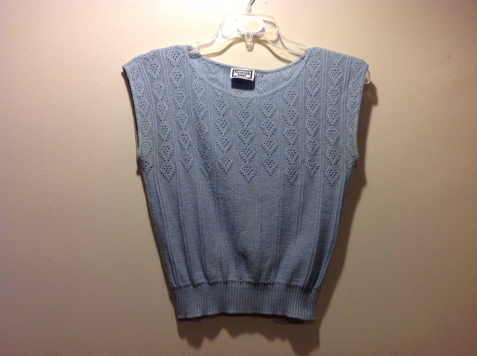 Ladies Keneth Too Pastel Baby Blue Knit Sweater Vest