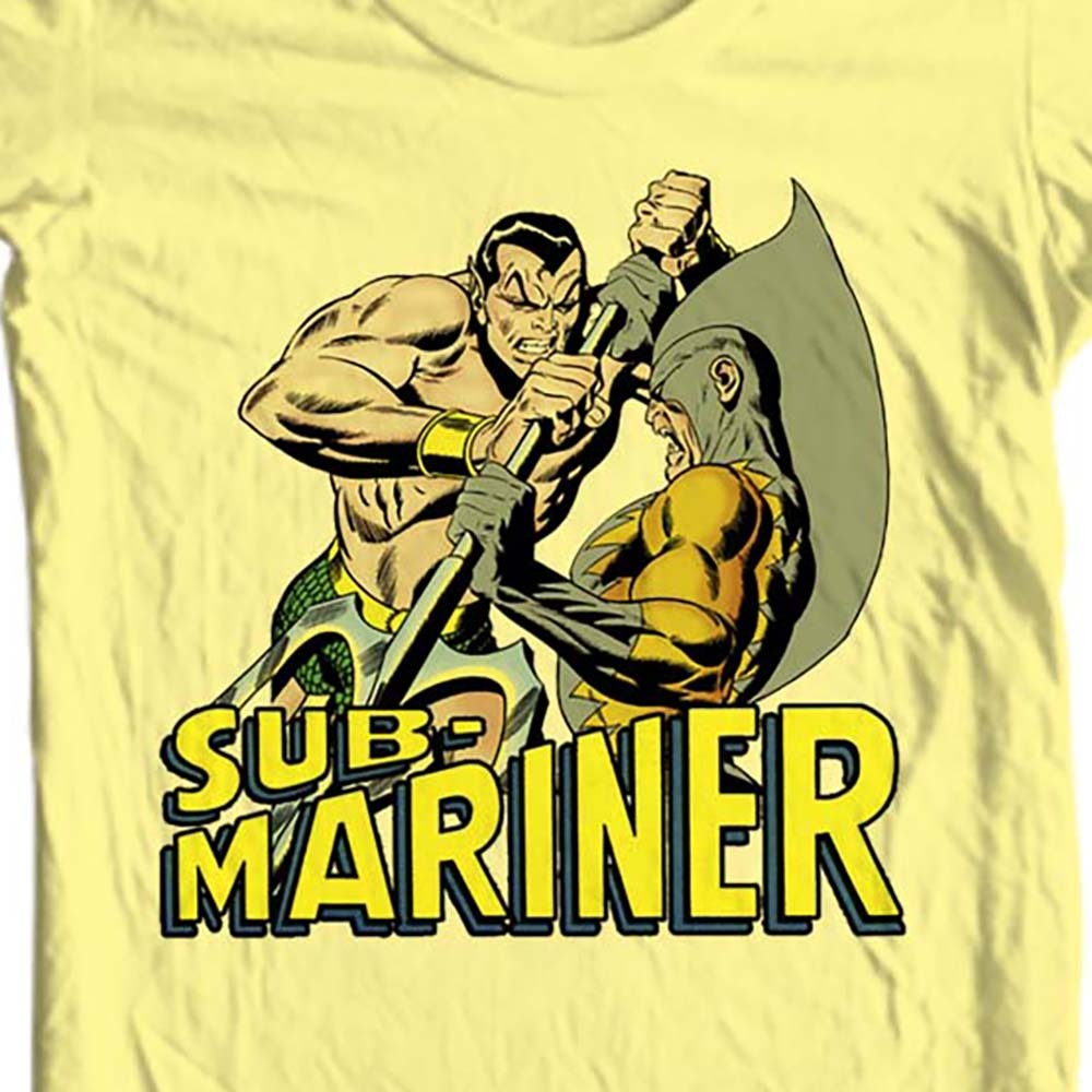 Sub-Mariner T-shirt old style Silver Age Comic book superhero cotton yellow tee
