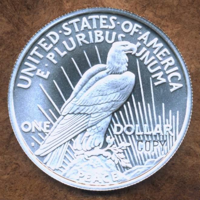 1934-S  PEACE  Silver  BU exact Replica  1REFCO