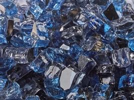 """10 Lbs of 1/2"""" Kenai Blue Reflective Blended Fireglass for Fire Pits Fir... - $38.61"""