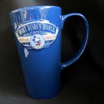 RARE TALL Walt Disney World Mickey Mouse Mug Coffee Cup American Tradition Blue - $27.48