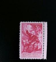 1956 3c Benjamin Franklin, Electricity 250th Anniversary Scott 1073 Mint... - $0.99