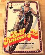 RARE VINTAGE ORIGINAL 1974 COLORFORMS EVEL KNIEVEL ADVENTURE SET TOY USE... - $47.03
