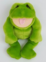 "Lou Rankin Friends Herbert Frog Plush Hand Puppet 16"" Applause Stuffed T... - $39.59"