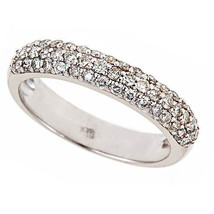 0.80 Carat F-SI Diamond Anniversary Women's Wedding Band Ring 14k White ... - £889.21 GBP