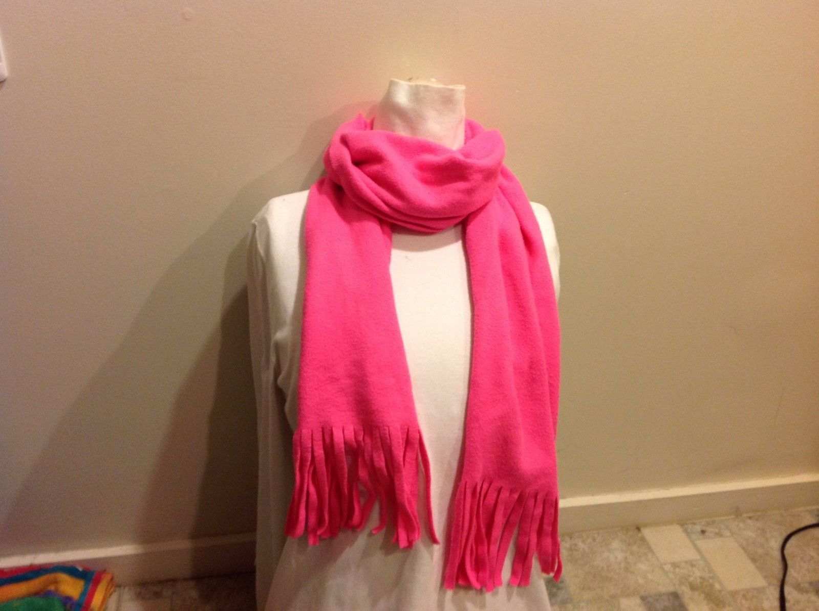 Old Navy Hot Pink Neon Fringed Scarf